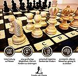 Amazinggirl Schachspiel Schach Schachbrett Holz hochwertig - Chess Board Set klappbar mit Schachfiguren groß für Kinder und Erwachsene 26 x 26 cm - 4