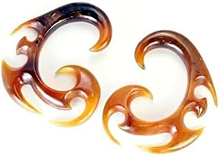Rising Phoenix GOLDEN Horn Spiral Earrings Body Jewelry - Price Per 2