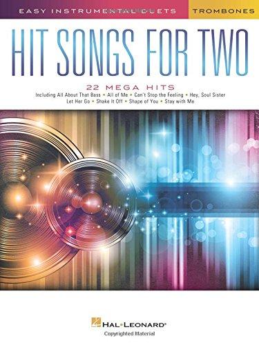 Easy Instrumental Duets Hit Songs -For Two Trombones- (Book): Noten für Posaune