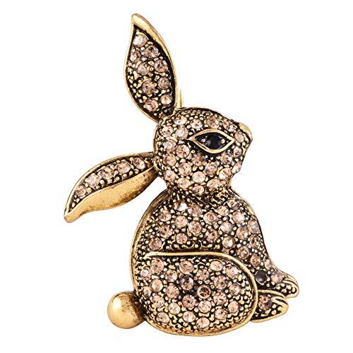 Mcuties Brooch Broches Europa Y América Diamante Conejo Moda Cofre Lindo Joyería Broche Ropa B