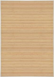vidaXL Alfombra de Bambú 120x180cm Natural Decoración de Interior Casa Hogar