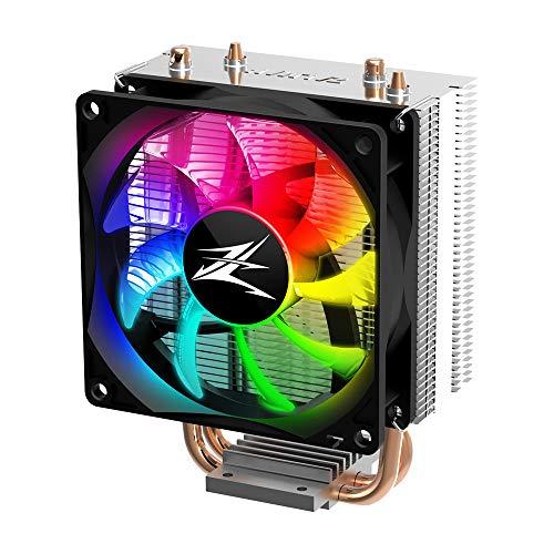 Zalman CNPS4X RGB - Ventilador de CPU (92 mm, compatible con zócalo Intel: 775, 115x, 1200, zócalo AMD: AM4, AM3(+), FM2(+)