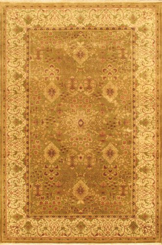 eCarpetGallery Area Rug for Living Room, Bedroom | Hand-Knotted Wool Rug | Mirzapur Traditional Ivory Rug 6