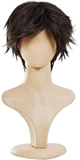 Ecvtop Wigs for Mens' Death Note Male Short Hair Wig Costume Cosplay Wigs (Dark Brown)