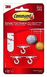 Command Ganchos de Techo, Multicolor, 9.8x17.2x2.7 cm, 7 Unidades