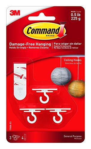 Command Haken-plafondlamp, meerkleurig, 9,8 x 17,2 x 2,7 cm, 7 stuks