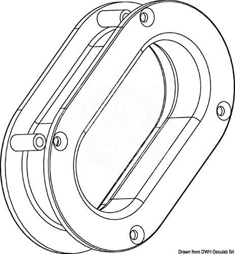 Osculati kluis van roest. Roestvrij staal 241 x 146 x 54 mm