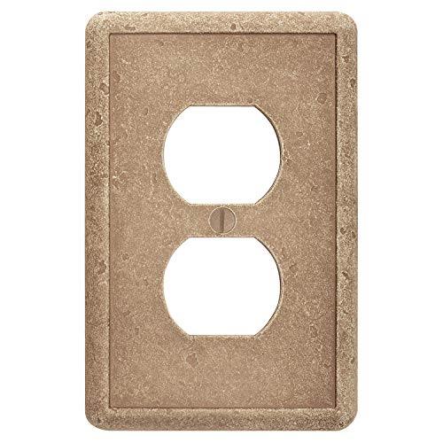 Questech Single Duplex - Noche Outlet Cover Tumbled Textured Electrical Wall Plate