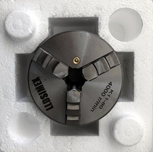 LLDSIMEX K11-80 Chuck 3 Jaw Self-Centering Lathe Chuck 3'/80mm With Internal and External 2 Set Jaws