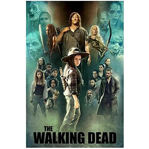 Chtshjdtb The Walking Dead Season 9 Movie Art Poster Canvas Painting Pictures Print Sala De Estar Decoración Para El Hogar Regalos-50X70Cm Sin Marco