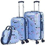 SKPAT - Juego de Maletas de Viaje Rígidas con Beauty tamaño 50/60 Fabricadas con Policarbonato, Cierre TSA 131400B, Color Azul