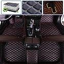 Muchkey Auto Fußmatten Leder fürVolvo XC90 5-seat 2003-2014 Schwarz mit roter Stichen, Autofussmatten Allwettermatten Custom Fit Wasserdicht