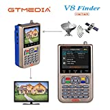 "GT MEDIA V8 Satelliten Finder Meter Sat Finder Satellitenerkennung DVB-S / S2 / S2X Signalempfänger Decoder HD 1080P FTA 3,5 ""LCD Eingebauter 3000mAh Zur präzisen Einstellung der Satellitenschüssel"
