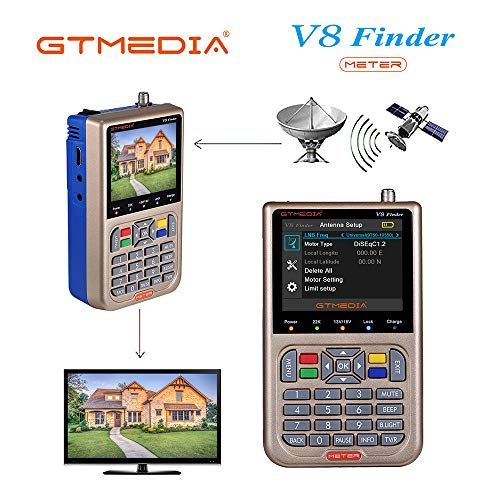 GT MEDIA V8 Satelliten Finder Meter Sat Finder Satellitenerkennung DVB-S /...
