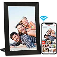 ❤A PERFECT GIFT TO KEEP YOU CONNECTED: Instantly share photos from your phone to an AEEZO digital photo frame through free frameo app; Invite unlimited friends and family to share pictures to your frame or send photos to their frames all via WiFi; Ad...