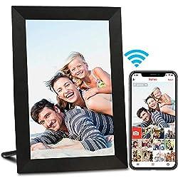 ❤ UN CADEAU PARFAIT POUR RESTER CONNECTÉ : Partagez instantanément des photos depuis votre téléphone vers un cadre photo numérique AEEZO grâce à l'application gratuite frameo ; Invitez un nombre illimité d'amis et de membres de votre famille à partag...