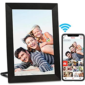 AEEZO WiFi Digital Picture Frame IPS Touch Screen Smart Cloud Photo Frame with 16GB Storage Easy Setup to Share Photos or Videos via Frameo APP Auto-Rotate Wall Mountable  9 inch Black