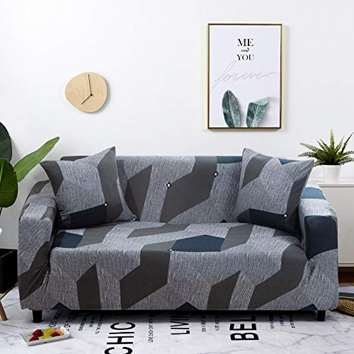 WXQY Funda elástica para sofá a Cuadros, Paquete Completo, Funda de sofá elástica antiincrustante para Sala de Estar, Funda para Silla de sofá A17, 3 plazas