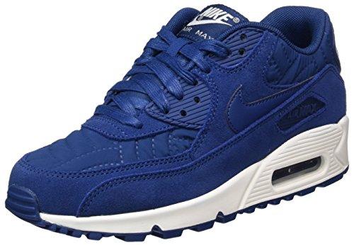 Nike Wmns Air Max 90 Prem, Scarpe da Corsa Donna, Multicolore (Coastal Blue/White), 36.5 EU