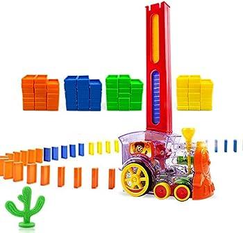 Oiuros Domino Train 80-Piece Block Set