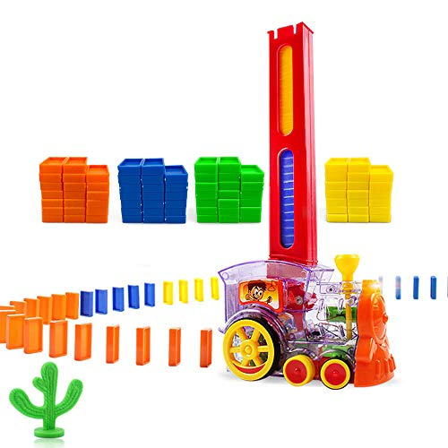 Domino Train, Domino Blocks Set, Building and Stacking Toy Blocks...