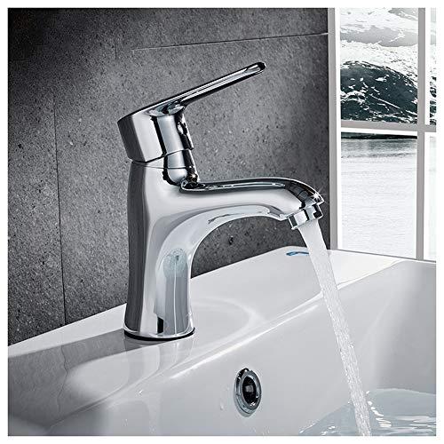 HMQQ mengkraan voor wastafels, gootsteen, mengkraan voor warm en koud water, kraan, kern van keramiek, alle materialen, geschikt voor toiletten, badkamers