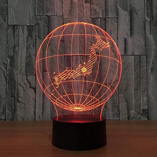 Yujzpl 3D-illusielamp Led-nachtlampje, USB-aangedreven 7 kleuren Knipperende aanraakschakelaar Slaapkamer Decoratie Verlichting voor kinderen Kerstcadeau-vliegtuigen