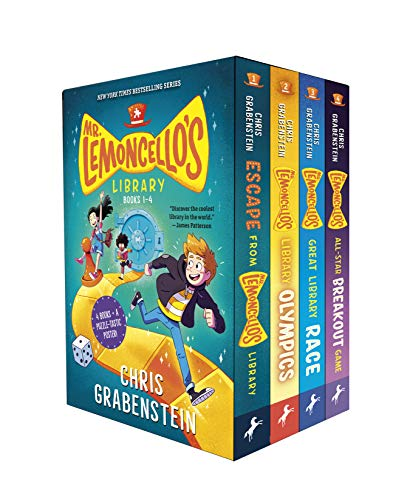 Compare Textbook Prices for Mr. Lemoncello's Library Books 1-4 Boxed Set  ISBN 9780593175507 by Grabenstein, Chris