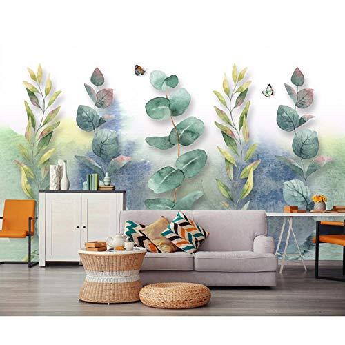 Custom 3d Wall Mural Wallpaper Home Decor Green Leaf Nature Landscape 3d Photo Wall Paper For Living Room Bedroom 8d Mural 200x140cm