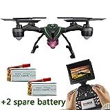 LIDI 510G 5.8G FPV Drone avec 2.0MP HD Caméra en Temps réel Mode de Maintien élevé Headless Mode One Key Return RC Quadcopter avec 2 Batteries supplémentaires