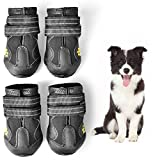 WUXIAN Waterproof Dog Shoes,Dog Outdoor Shoes, Running Shoes for Dogs,Pet Rain Boots, Labrador…