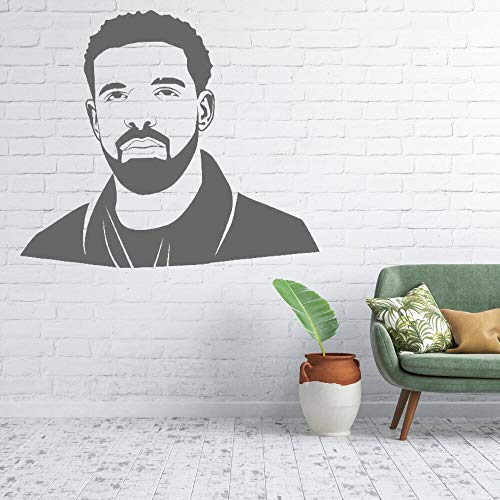 YuanMinglu Promi Rapper Wandtattoo Aufkleber Entertainer Aufkleber Rapper Familie Schlafzimmer Dekoration Wandkunst 74x65cm