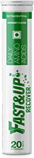 Fast&Up Recover - Essential Amino Acids (20 Effervescent Tablets - Raspberry Flavour) - Post Workout Supplement for Muscle...