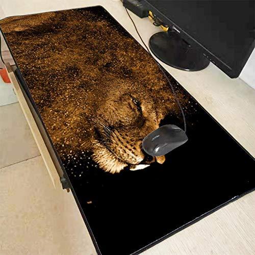 AUUUA Alfombrilla para ratón 300 x 700 x 2 mm, diseño de animales, resistente, gran borde de cierre, alfombrilla para ratón