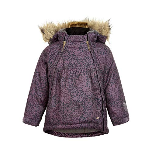 MINYMO Baby Girl Winterjacke Herringbone AOP 2 Zipper 92