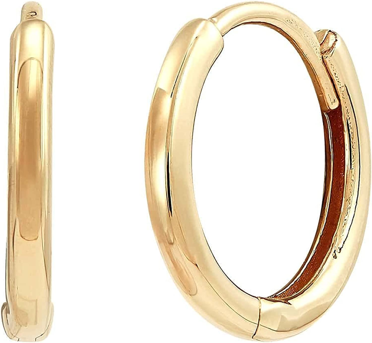 Welry '12mm Small Hoop Earrings' 14K Gold Save money Safety and trust Yellow in