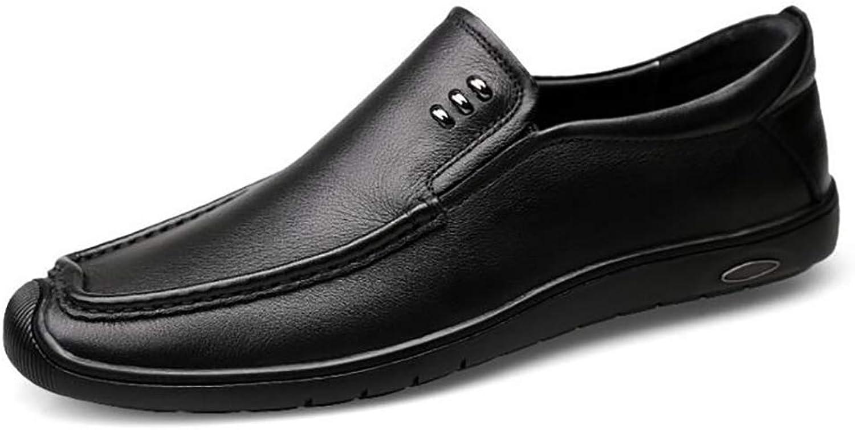 Men's Leather shoes 2018 Summer Men's Casual shoes Hollow Men's shoes Business Dress Work shoes Soft shoes (color   A, Size   43)