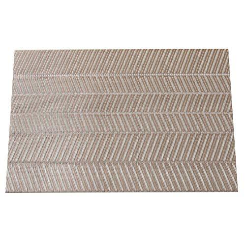 Family Needs 5PCS / LOT Isolatie PVC regenjas verdikking moderne minimalistische westers eten mat hitte huishouden (Color : Light gold, Size : 45 * 30cm)