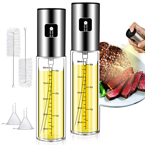 Olive oil sprayer for Cooking, 2 pcs Olive Oil Spray Nozzles for Baking and Grilling, Very Durable Olive Oil sprayer Nozzles