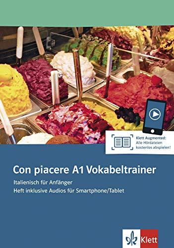 Con piacere A1 Vokabeltrainer: Italienisch für Anfänger. Heft inklusive Audios für Smartphone/Tablet
