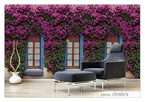 Fototapete Dekor Wallpaper Nach Maß 3D Fototapete Wand 3D Vlies Wandbilder Wallpaper Europäischen Garten Blumentapete Für Wohnzimmer, 150Cmx105Cm