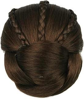 USIX Braided Bun Hair Piece Elegant Updo Braided Hair Bun Braided Chignon Hairpiece with Built-in Combs for Women Girls Party Wedding Hairdos Dancing Costume Hair Accessory (2009)