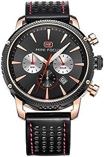 Mini Focus Mens Quartz Watch, Chronograph Display and Leather Strap - MF0010G.01