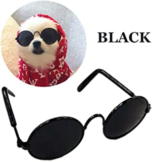 Stock Show Funny Cute Dog Cat Retro Fashion Sunglasses Glasses Transparent Eye-wear Protection Puppy Cat Teacher Bachelor Cosplay Glasses Pet Photos Props for Small Dog Cat