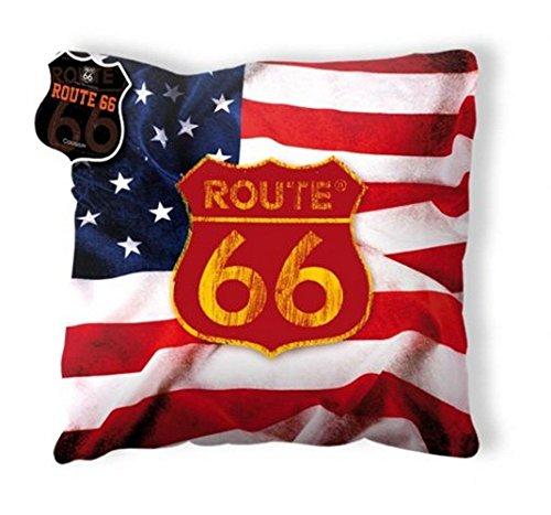 Cojín Rute 66 Bandera