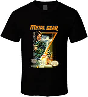 Metal Gear NES Box Art Video Game Black T Shirt
