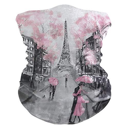 SunsetTrip Eiffelturm Paris Lovers Street Multifunktionales Bandana Schal Gesicht Staub UV Maske Hals Gaiter Stirnband Kopfbedeckung Halstuch für Sport Wandern Laufen Motorrad