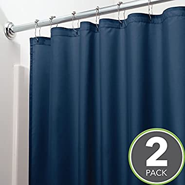 SLattye Luxury Shower Curtain Liner Water Repellent Fabric Mildew Resistant Washable Cloth Hotel Quality Eco Friendly