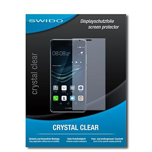 SWIDO Schutzfolie für Huawei P9 Plus [2 Stück] Kristall-Klar, Hoher Festigkeitgrad, Schutz vor Öl, Staub & Kratzer/Glasfolie, Bildschirmschutz, Bildschirmschutzfolie, Panzerglas-Folie