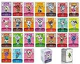 CONTENU : 1 Boite transparente avec un Lot de 24 Mini cartes de jeu pour Amiibo Animal Crossing New Horizon et New Leaf. Elles permettent d'inviter de nouveaux villageois sur votre île comme les Amiibo. COMPATIBLE : Carte à utiliser sur les consoles ...
